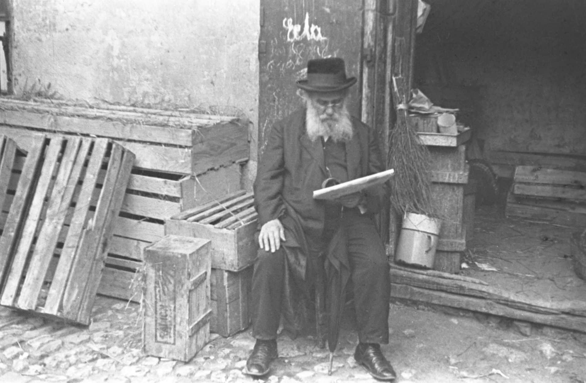 Zdjęcie zrobiono w 1933 roku w Krakowie. Źródło: Narodowe Archiwum Cyfrowe. Jewish Quarter Krakow