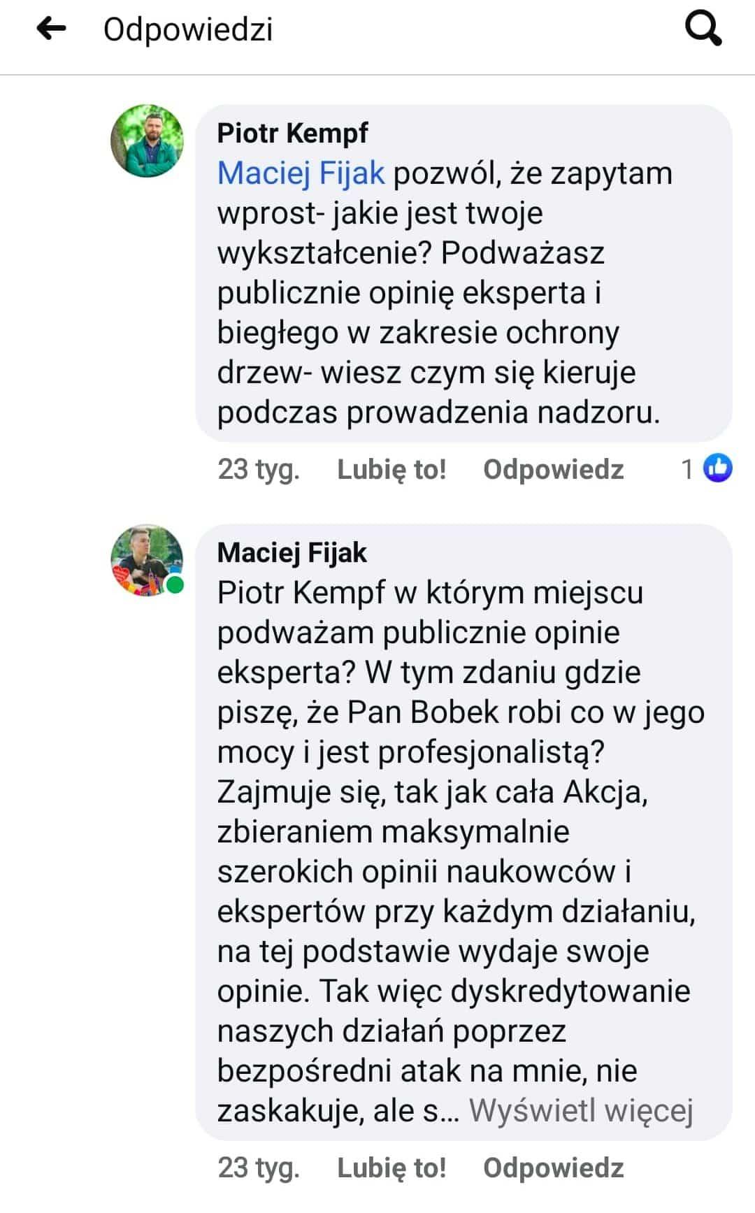 Rozmowa krakowskiego urzędnika z Maciejem Fijakiem. Piotr Kempf.