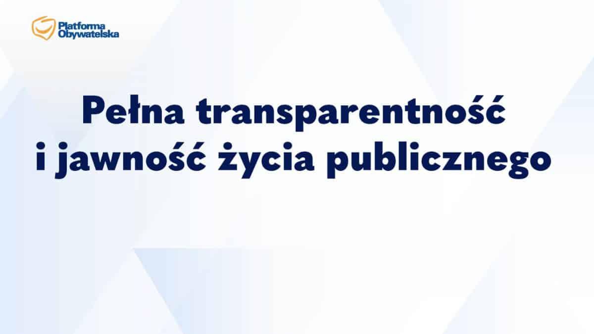 Platforma Obywatelska Jawność