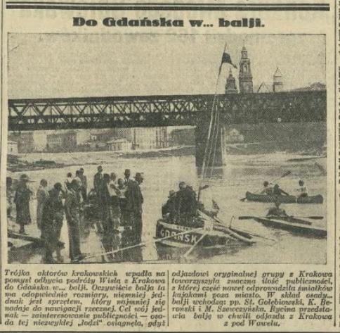 18 VI 1932 IKC / Z Krakowa do Gdańska... balią.