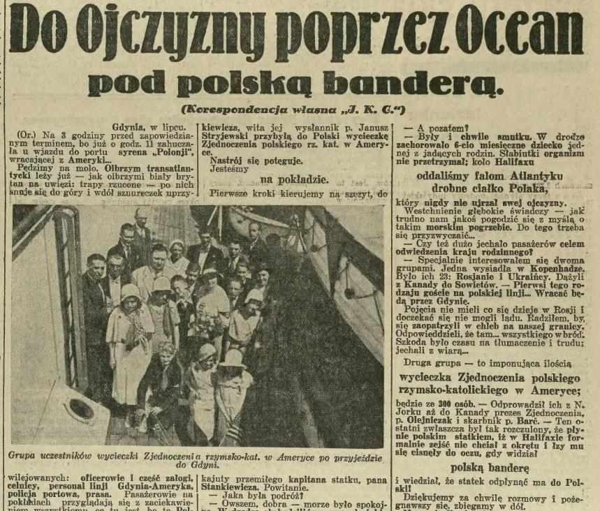 Święto Morza 1932 rok. Gdynia. Ilustrowany Kurier Codzienny.