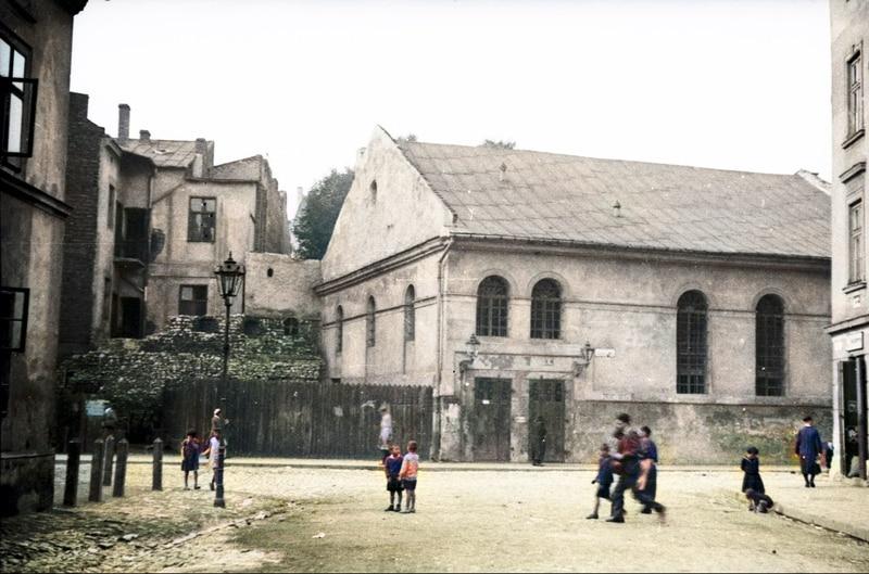 Synagoga Kupa na Kazimierzu przy ulicy Jonatana Warschauera w Krakowie. Jewish Quarter Krakow