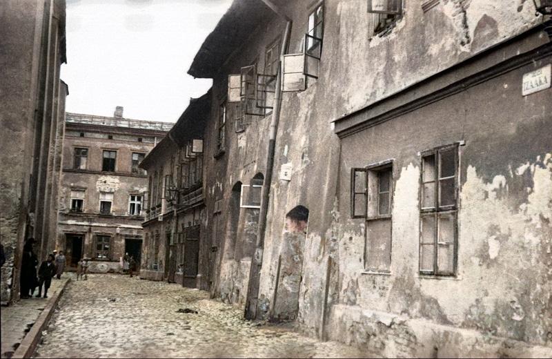 Ulica Izaaka na Kazimierzu. Źródło: Narodowe Archiwum Cyfrowe.