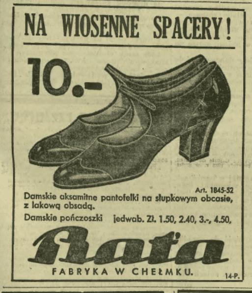 Ilustrowany Kurier Codzienny. buty Bata.