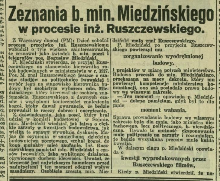 Budowa poczty w Gdyni. Miedziński. Ruszczewski. Poczta. Gdynia.