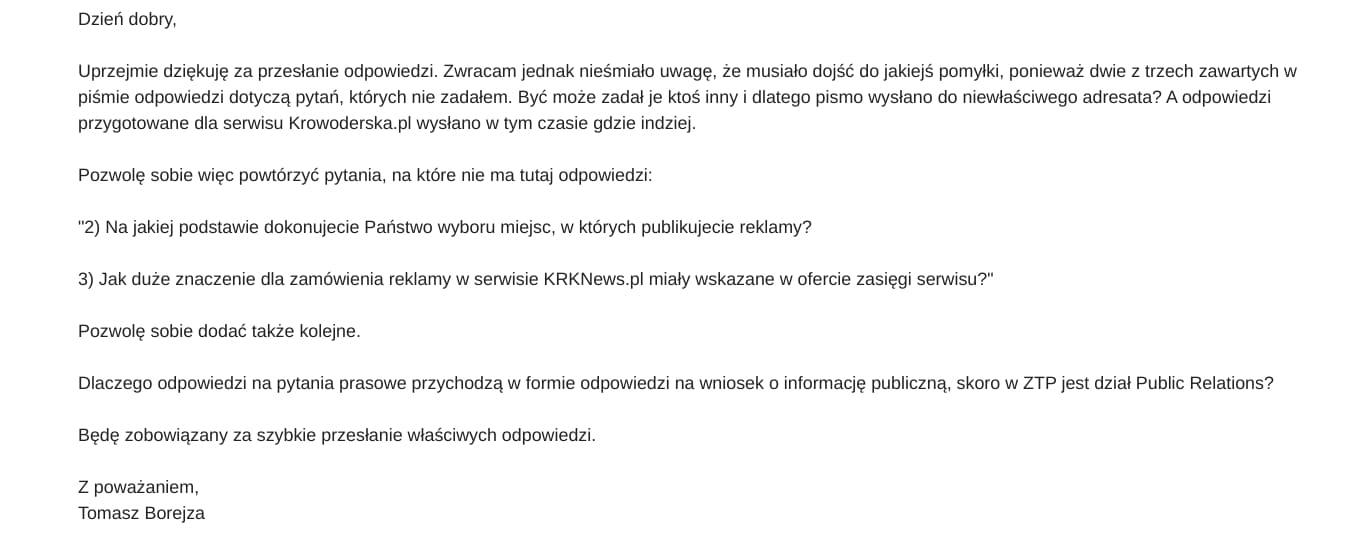 Zarząd Transportu Publicznego KRKNews.pl