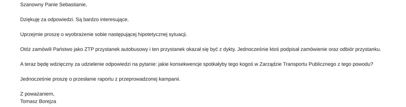Sebastian Kowal Zarząd Transportu Publicznego