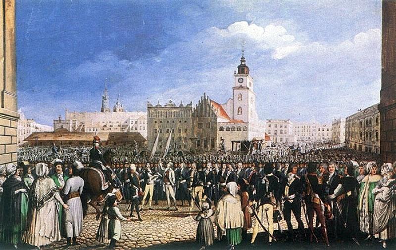 """Michał Stachowicz, """"Przysięga Kościuszki"""". Źródło: Wikimedia."""