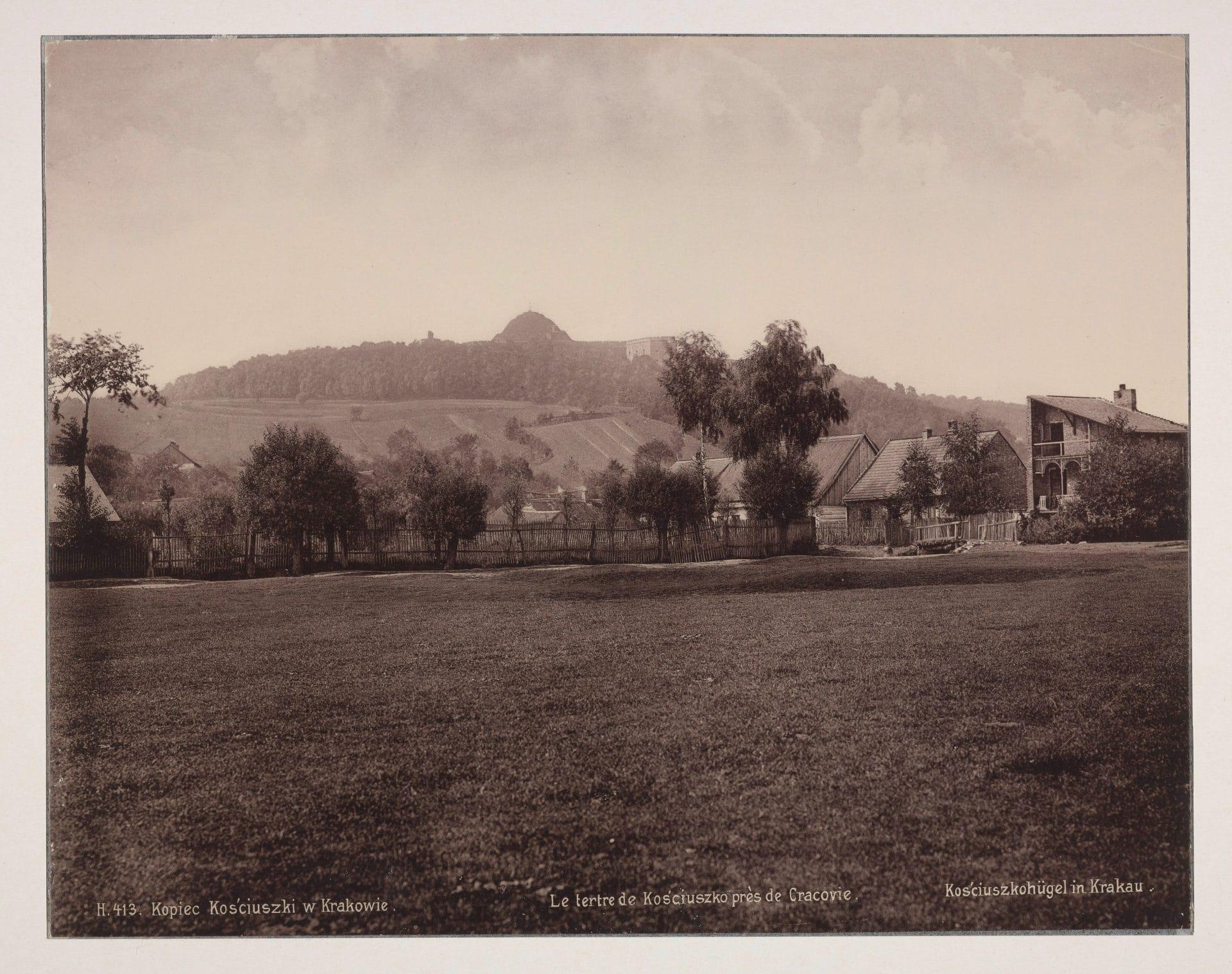 Kopiec Kościuszki w 1895 roku. Źródło: Polona.pl.