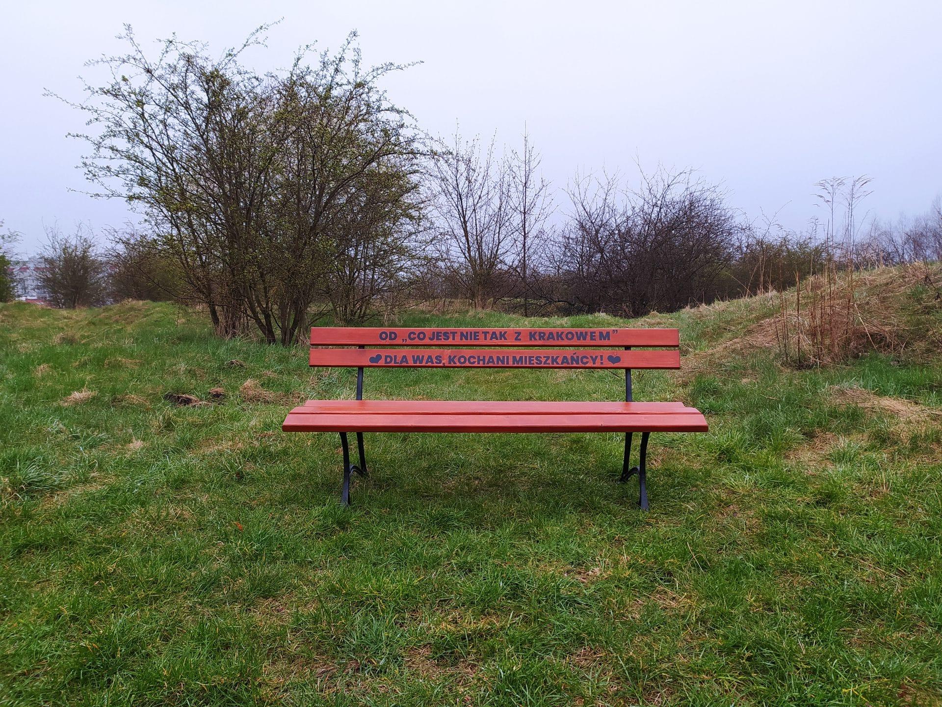 Krzemionki Park Ławka