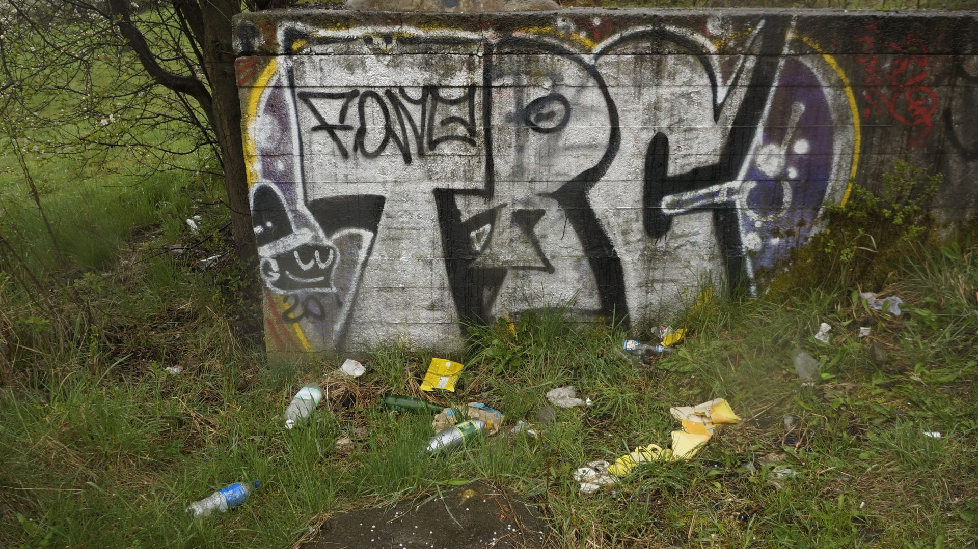 Śmieci w parku pamięci zarządzanym przez miasto, które atakuje chłopaka za dostawienie w nim dwóch ławek.