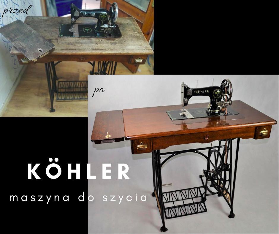 ReLamusownia oferuje na sprzedaż prawdziwe perełki. Renowacja mebli  maszyna do szycia Kohler