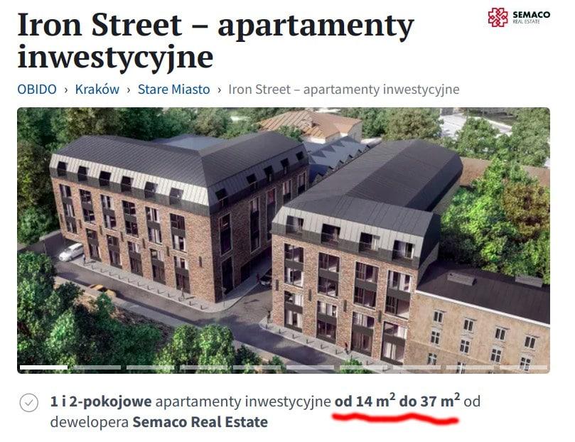 Apartamenty Iron Street można znaleźć m.in. na Obido.