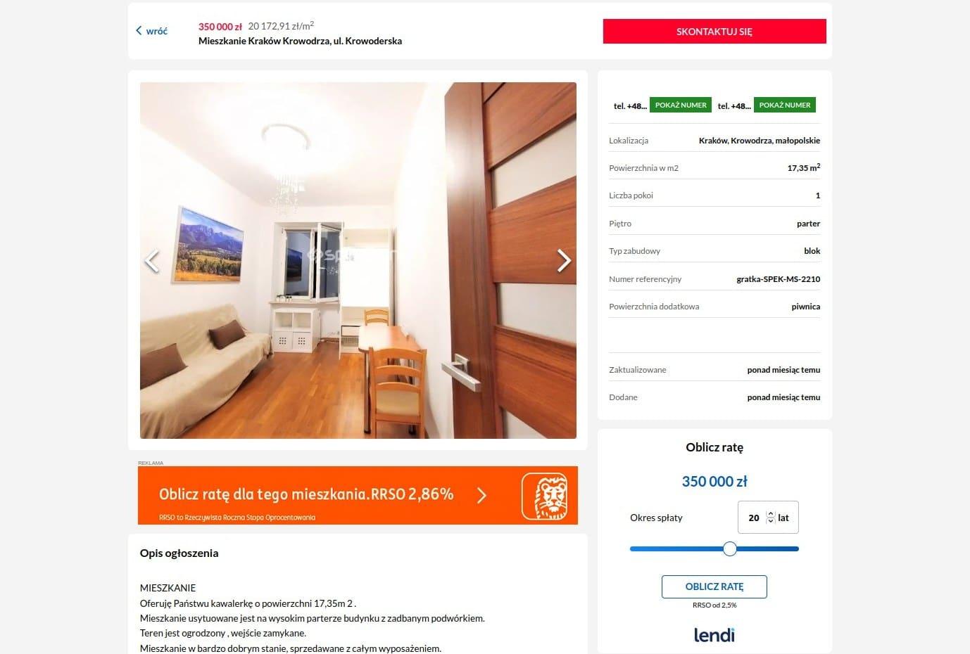 Mieszkania Kraków Gratka