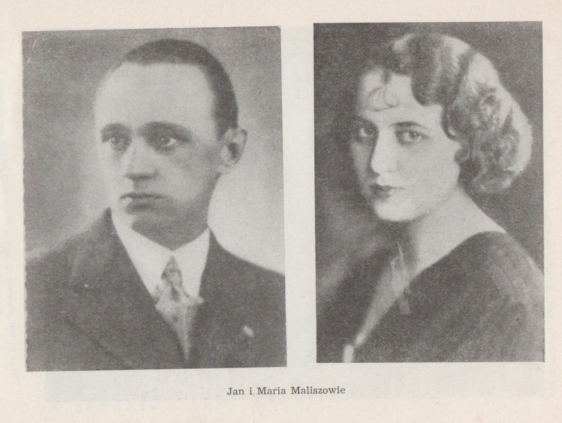 """Jan i Maria Maliszowie. Źródło: Stanisław Salmonowicz, Janusz Szwaja, Stanisław Waltoś, """"Pitaval Krakowski"""", Kraków 1973."""