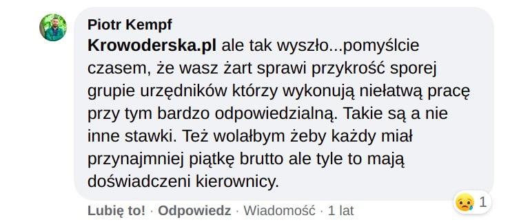 Piotr Kempf Zarobki Zarząd Zieleni Miejskiej.