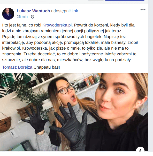 Łukasz Wantuch poleca cykl Krakowski Biznes Krowoderska.pl