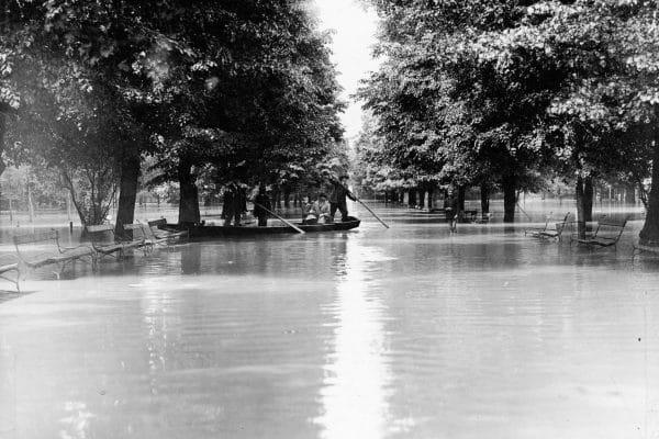 Błonia Powódź w Krakowie 1925 rok