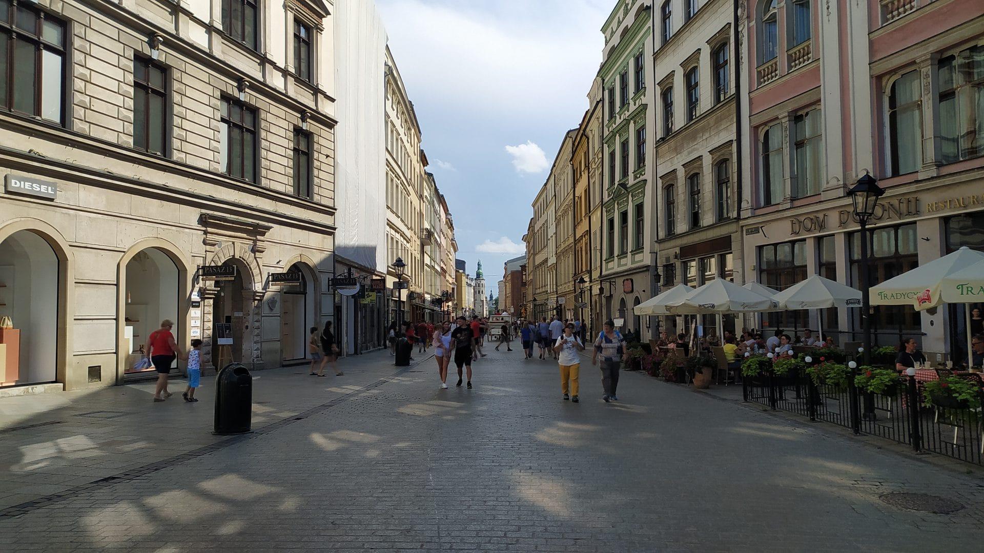 Ulica Grodzka w Krakowie.