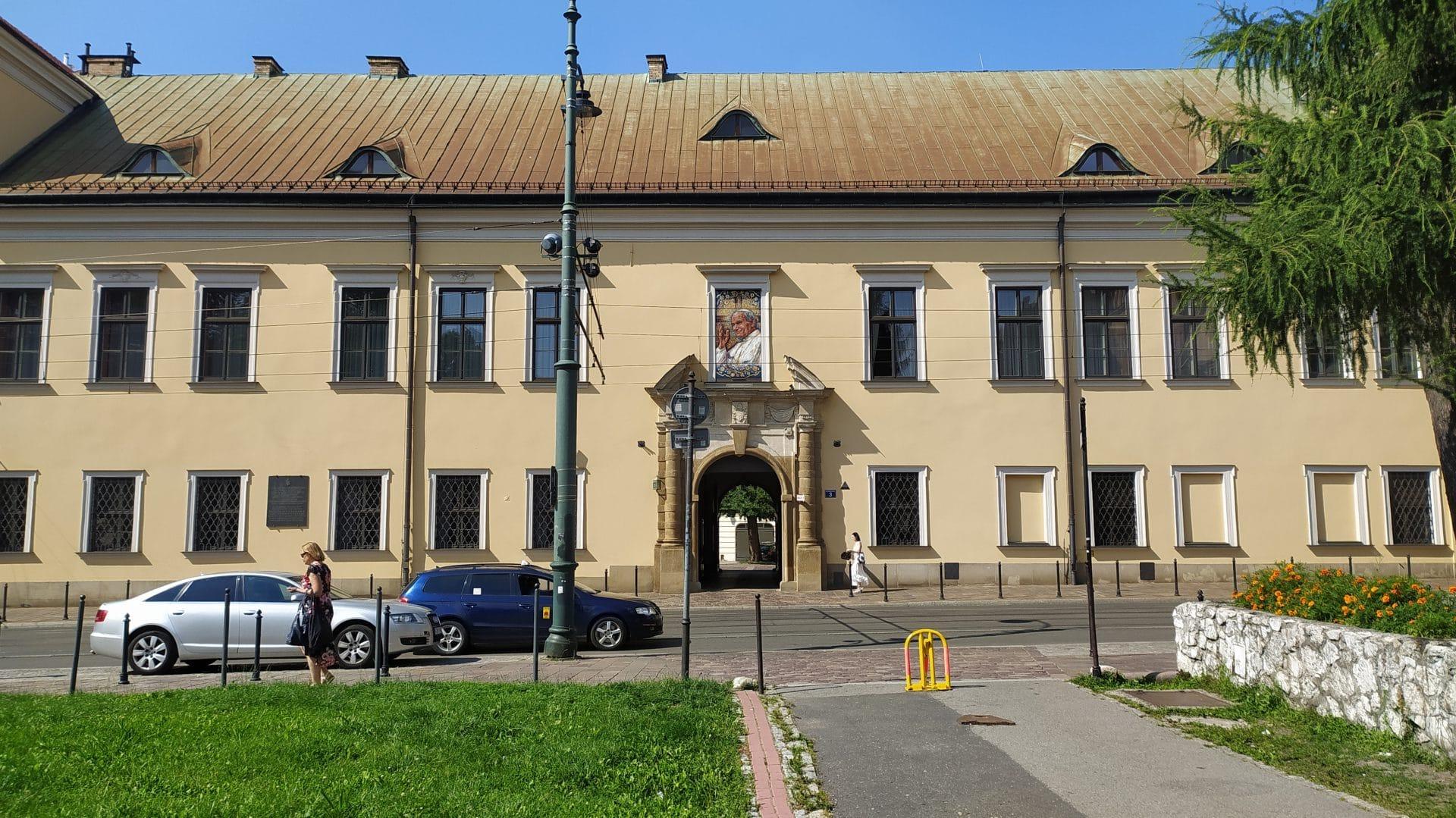 Okno papieskie w Krakowie.
