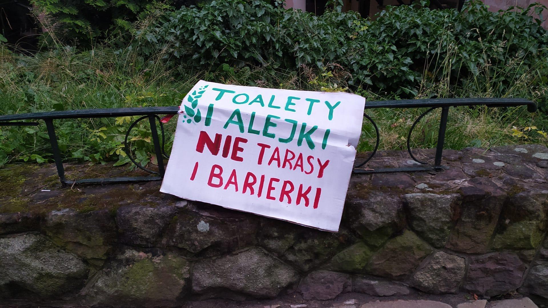 Toalety Alejki Park Bednarskiego