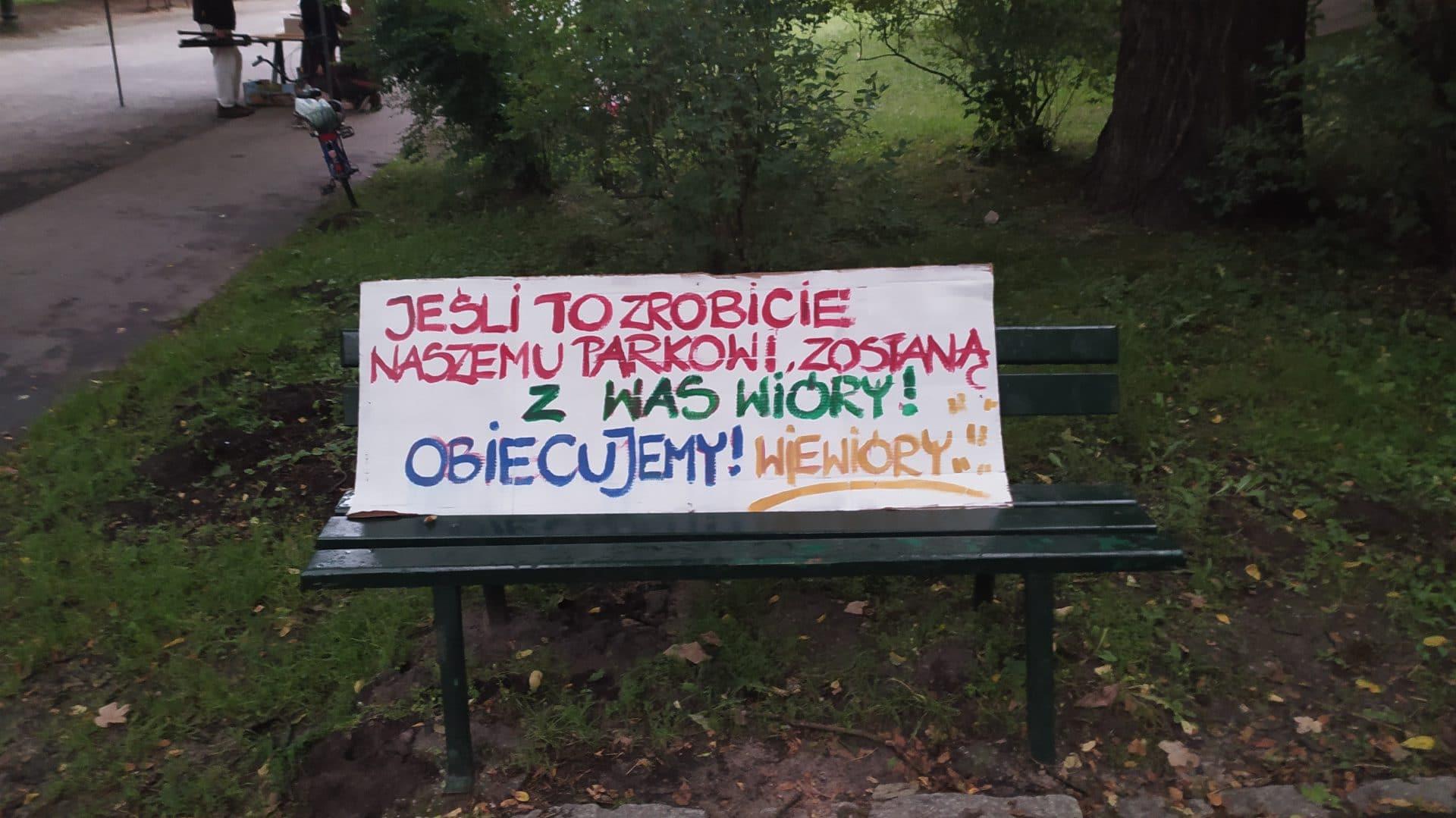 Park Bednarskiego wiewióry