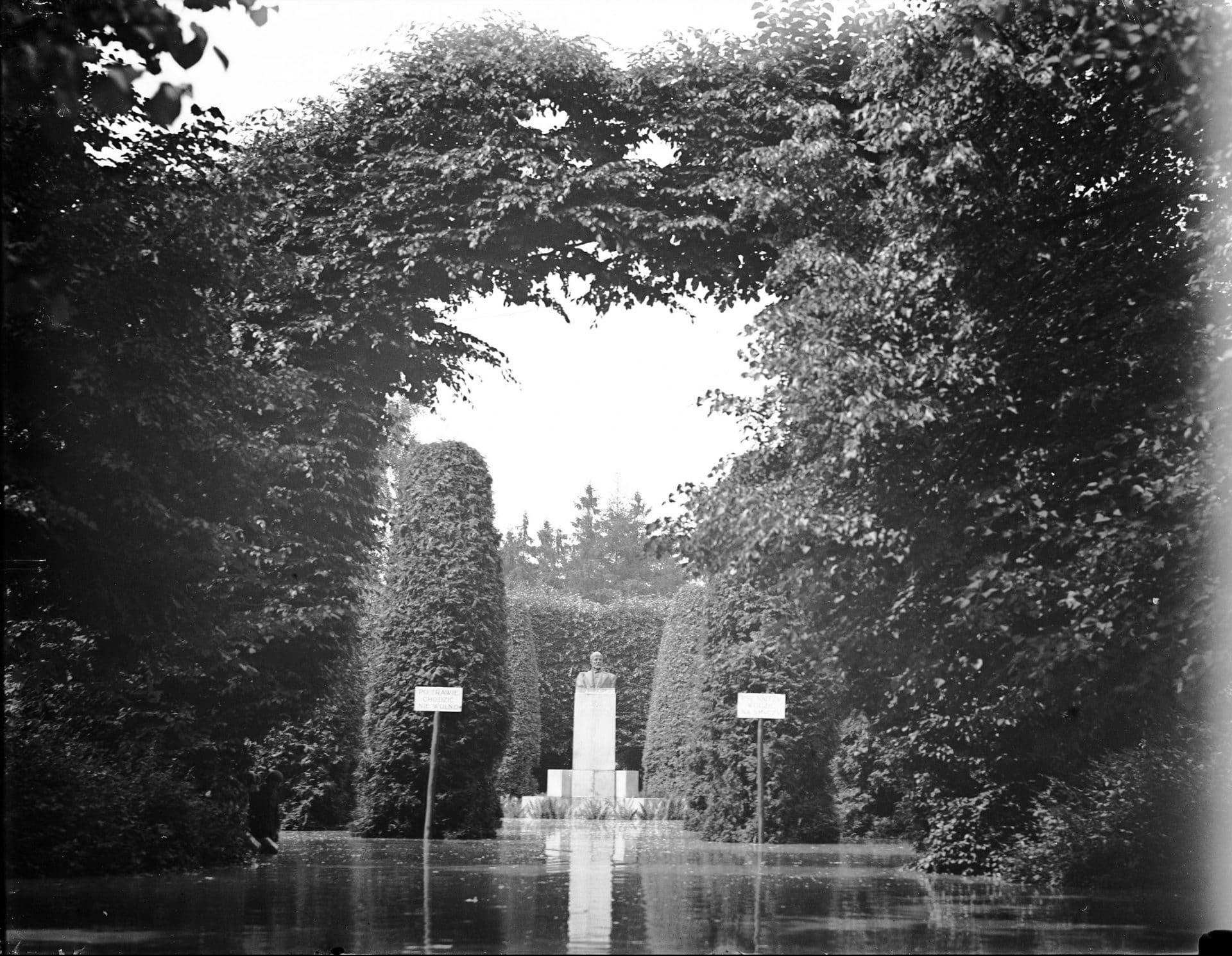 Park Jordana. Powódź 1925 rok.