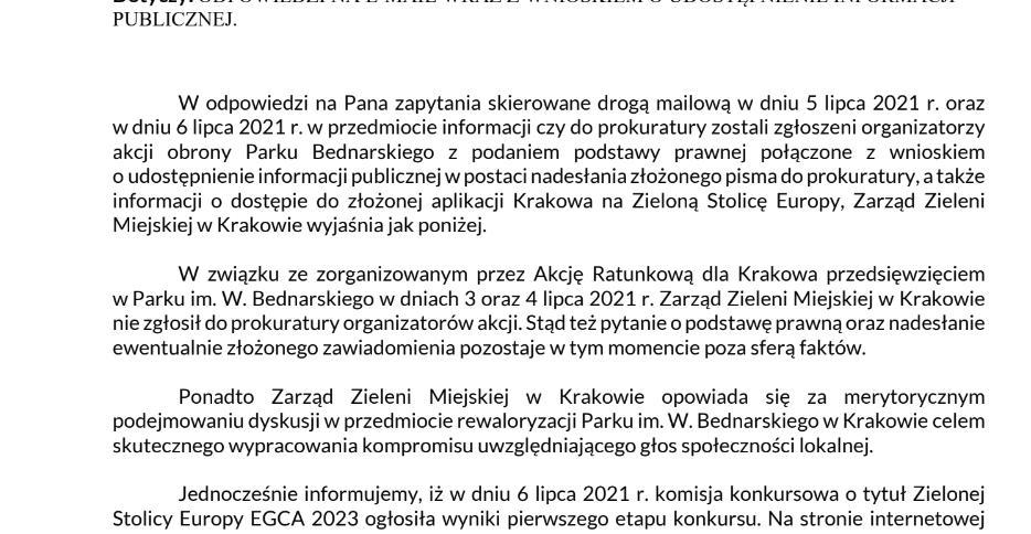Akcja Ratunkowa dla Krakowa Piotr Kempf