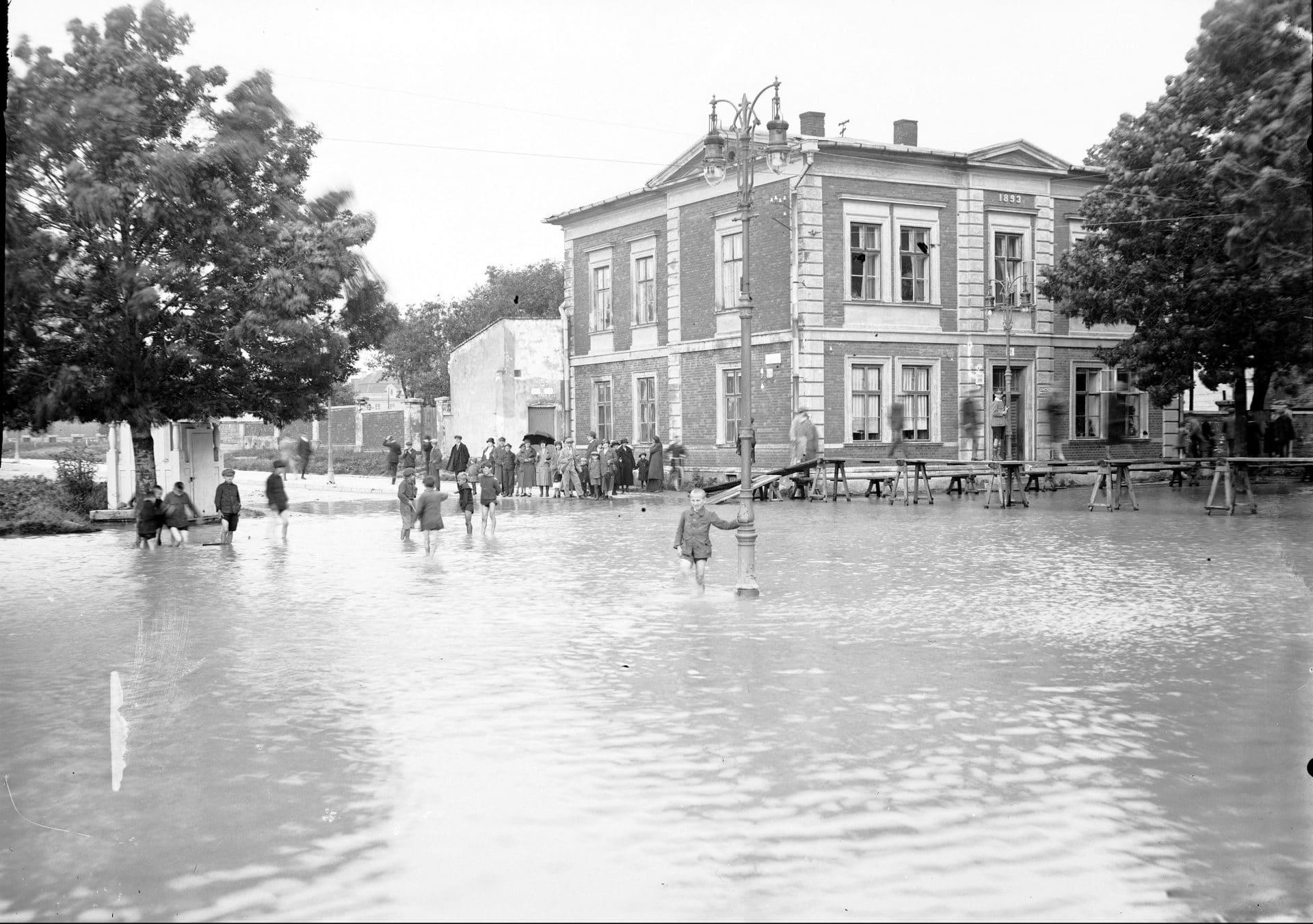 Rogatka Wolska. Powódź Kraków 1925