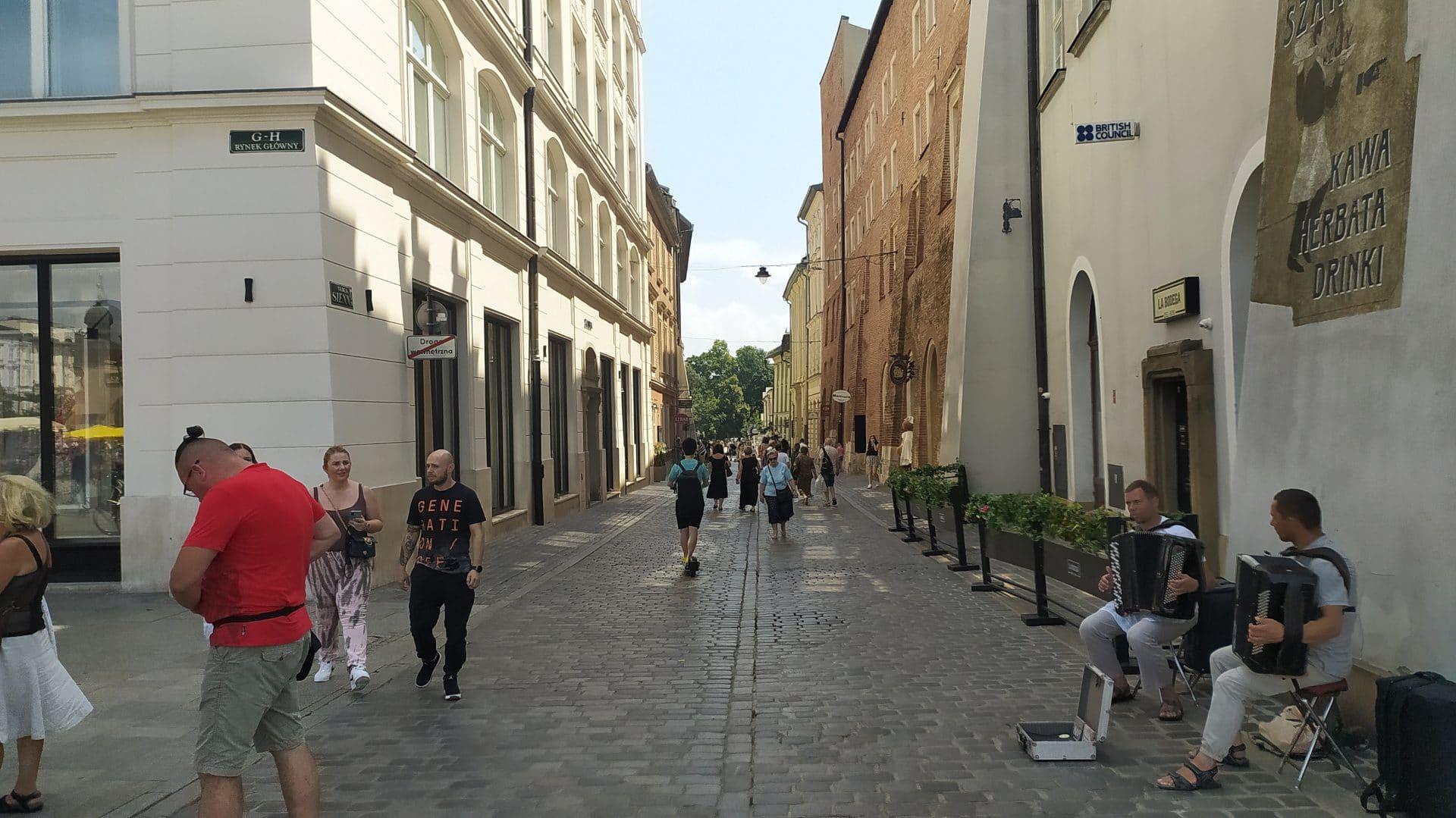 Ulica Sienna w Krakowie.