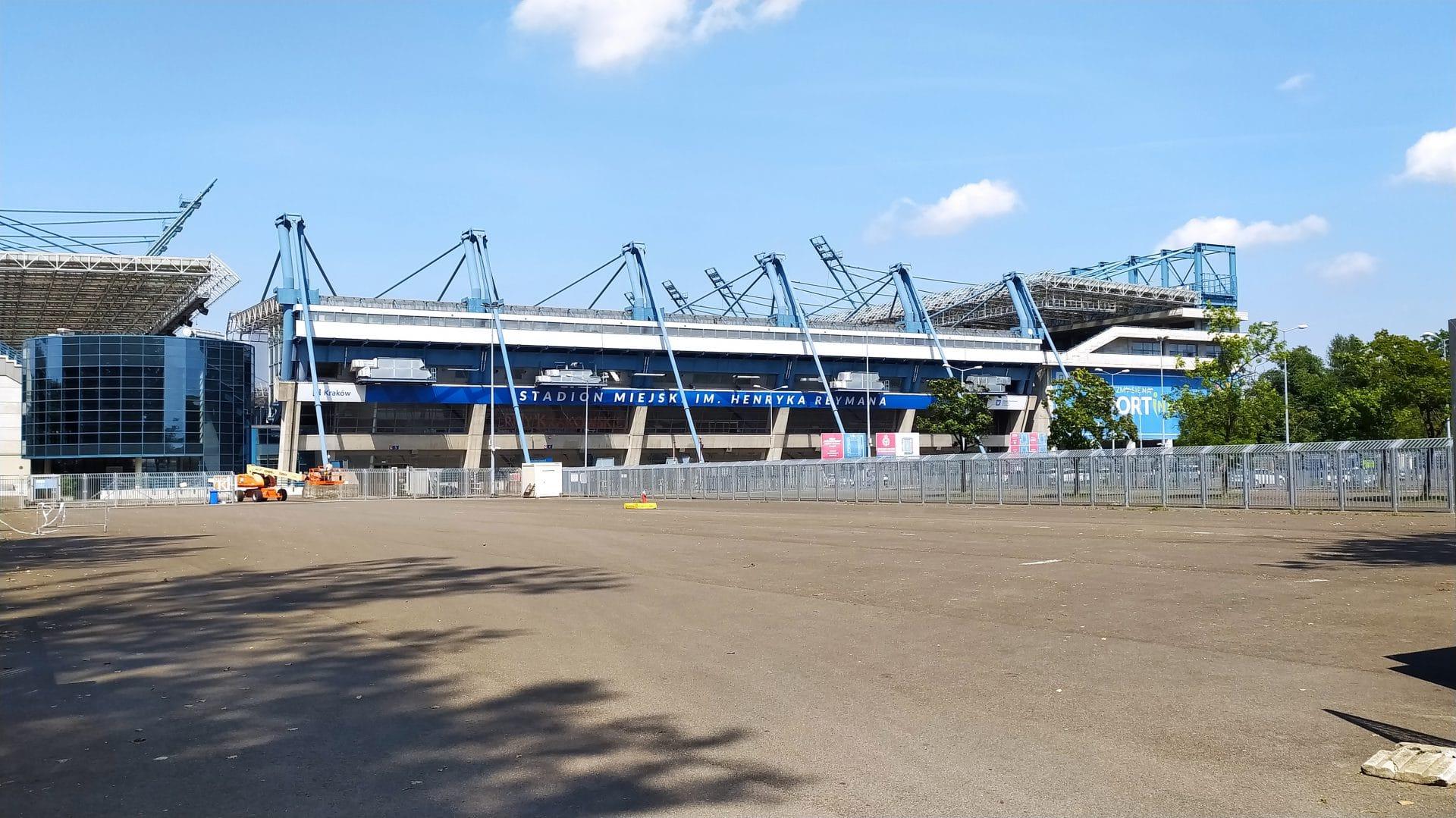 Stadion miejski im. Henryka Reymana.