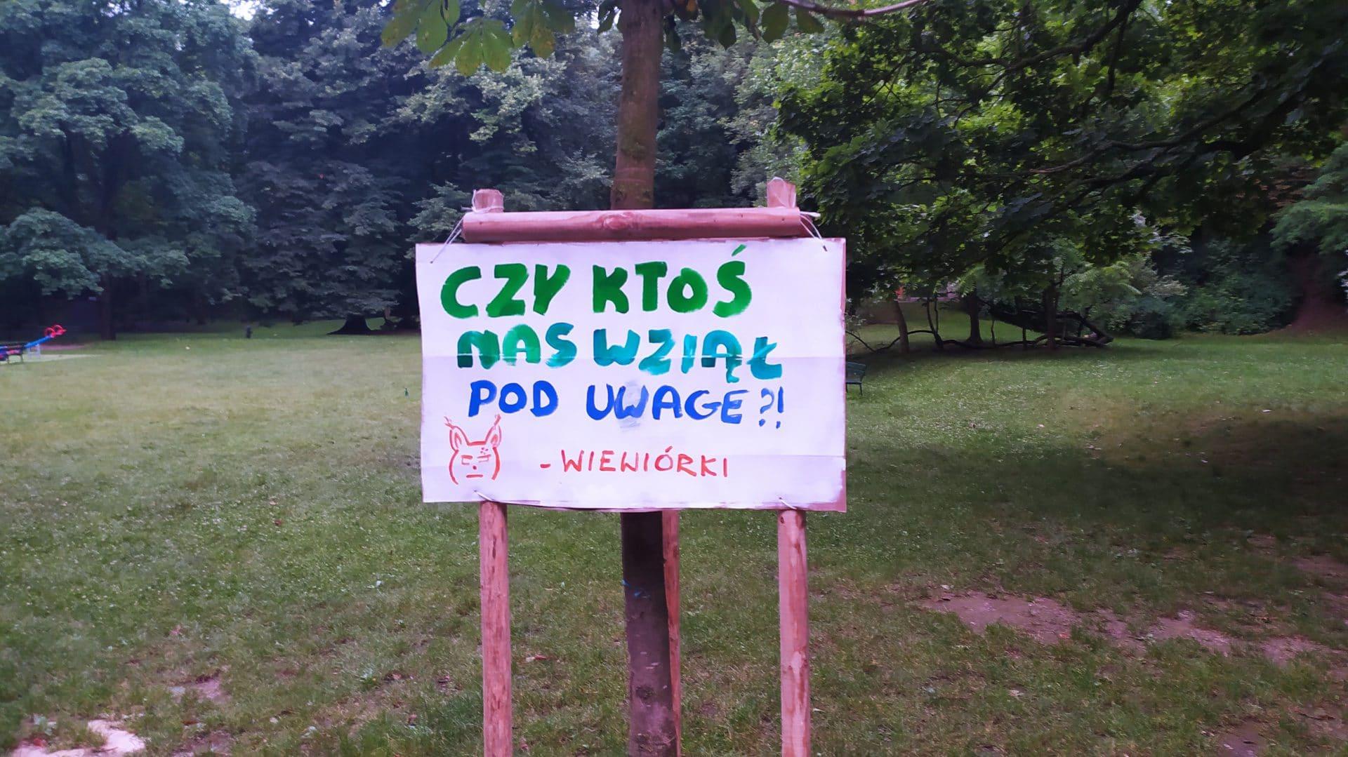 Park Bednarskiego Wiewiórki