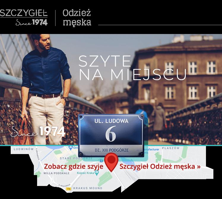 Odzież męska Kraków spodnie