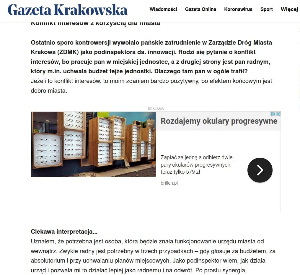 Łukasz Wantuch. rekrutacja. Zarząd Dróg Miasta Krakowa.