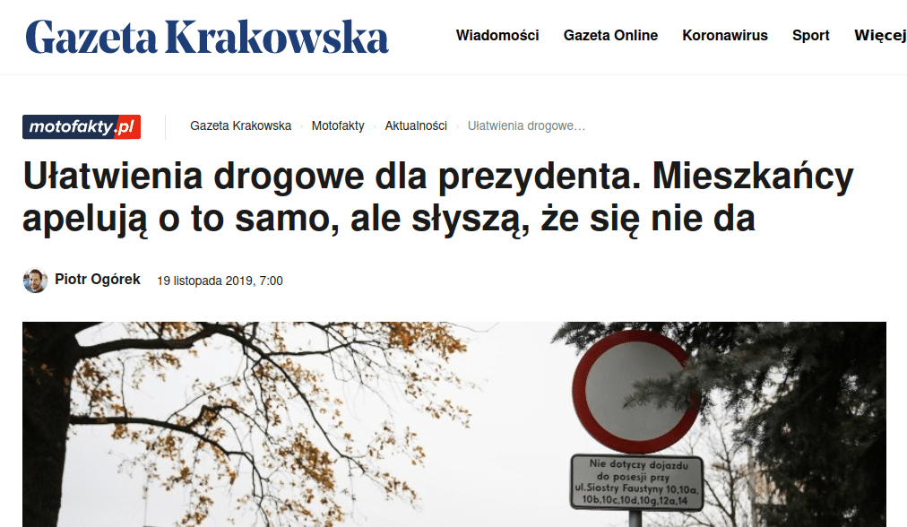 Zielonki mogą przyjść do siebie. Prywatna ulica Jacka Majchrowskiego? Gazeta Krakowska