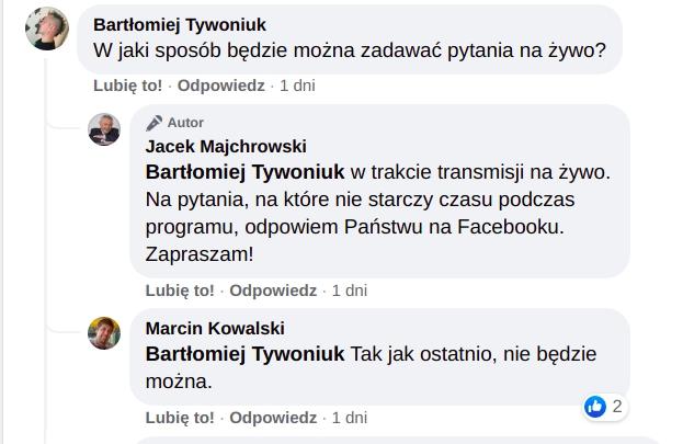 Pytania do prezydenta Jacka Majchrowskiego